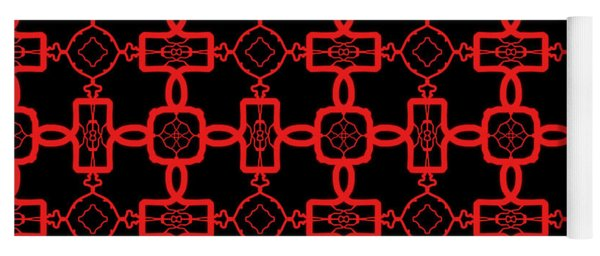 Red And Black Celtic Cross Pattern Yoga Mat