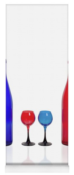 Red And Blue #2435 Yoga Mat