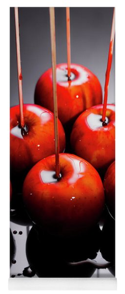 Red Apples With Caramel  Yoga Mat