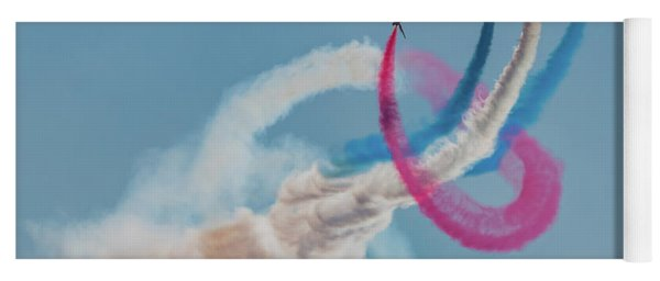 Yoga Mat featuring the photograph Red Arrows Twister by Gary Eason