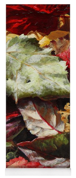 Red Autumn - Wasilla Leaves Yoga Mat