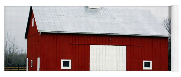 Red Barn- Photography By Linda Woods Yoga Mat