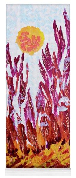 Red Beauties In The Garden Yoga Mat