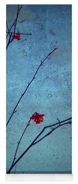 Red Berries Blue Sky Yoga Mat