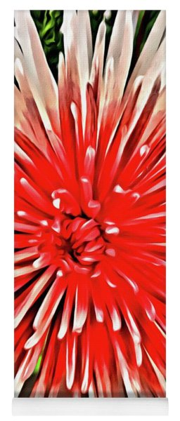 Red Burst Yoga Mat