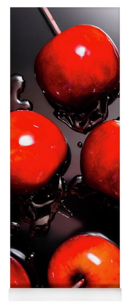 Red Candy Apples Or Apple Taffy Yoga Mat