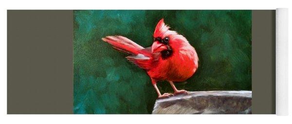 Red Cardinal Yoga Mat