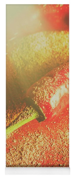 Red Cayenne Pepper In Spicy Seasoning Yoga Mat