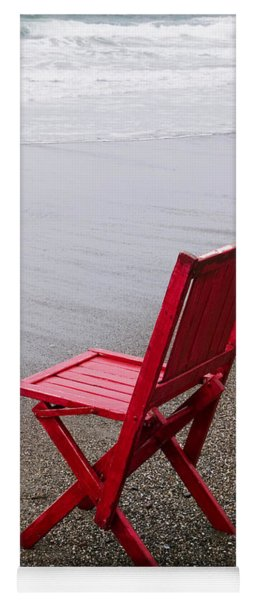 Red Chair On The Beach Yoga Mat