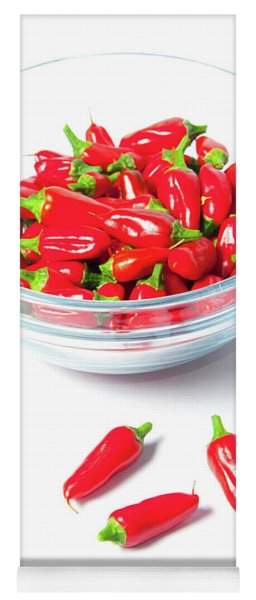 Red Chillies In A Bowl II Yoga Mat