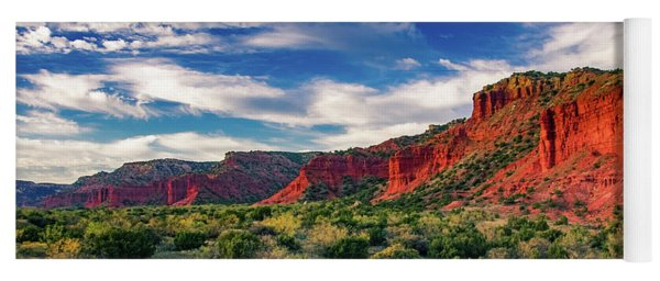 Red Cliffs Of Caprock Canyon 2 Yoga Mat