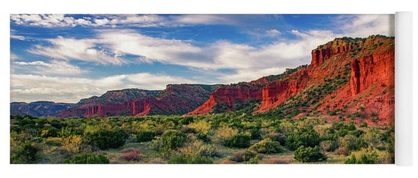 Red Cliffs Of Caprock Canyon Yoga Mat
