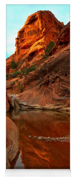 Red Cliffs Reflections Yoga Mat