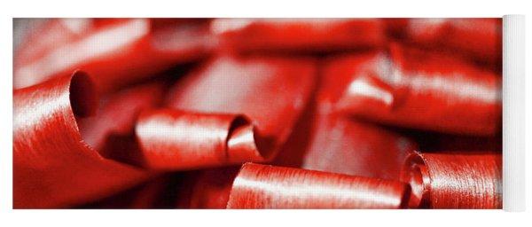 Red Curls Yoga Mat
