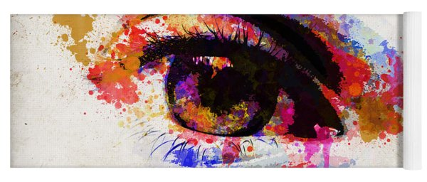 Red Eye Watercolor Yoga Mat
