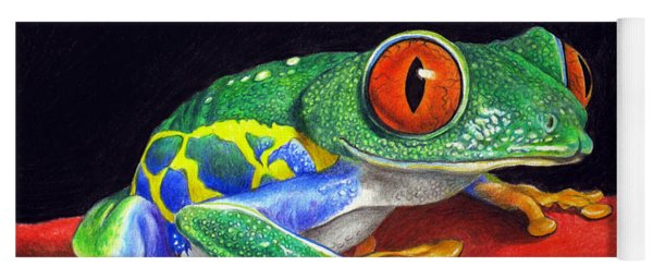 Red Eyed Tree Frog Yoga Mat
