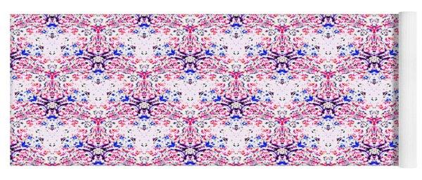 Red Fabric Pattern Yoga Mat