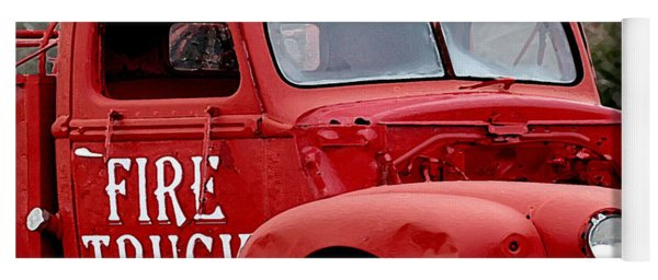 Red Fire Truck Yoga Mat