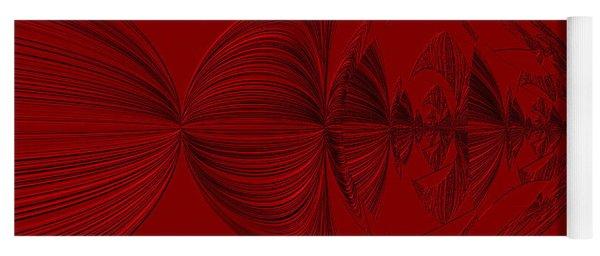 Red And Black Design. Art Yoga Mat