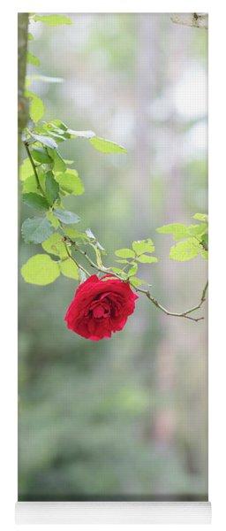 Red Flower Garden Yoga Mat