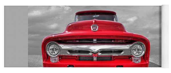 Red Ford F-100 Head On Yoga Mat