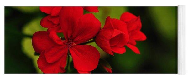 Red Geranium Yoga Mat