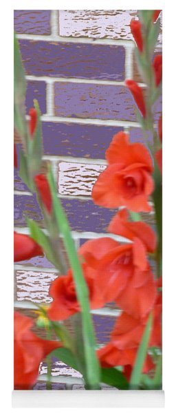 Red Gladiolas Yoga Mat