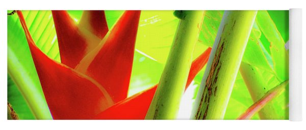 Red Heliconia Yoga Mat