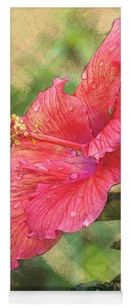 Red Hibiscus Yoga Mat