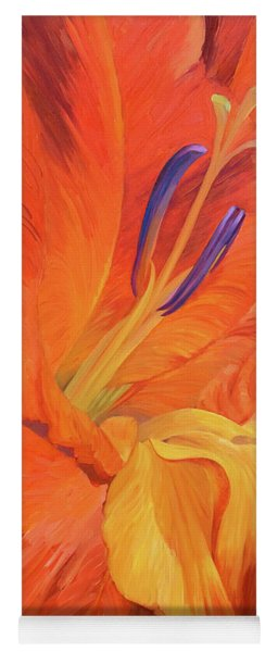 Red-hot Flower Yoga Mat