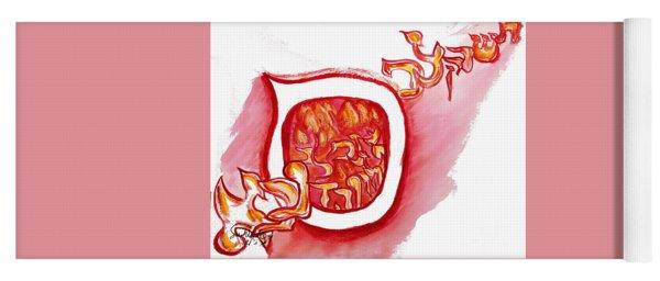 Red Hot Samech Yoga Mat