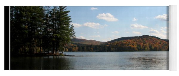 Red House Lake Allegany State Park Ny Yoga Mat