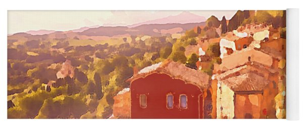 Red House On A Hill Yoga Mat