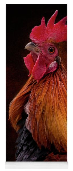 Red Jungle Fowl Rooster Yoga Mat