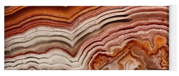 Red Laguna Lace Agate Yoga Mat