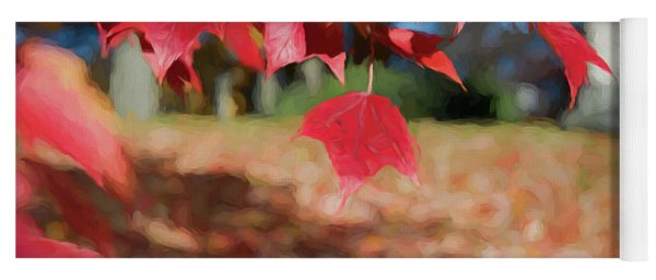 Red Leaves Yoga Mat