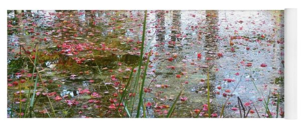 Yoga Mat featuring the photograph Red Leaves Have Fallen by Michelle Calkins