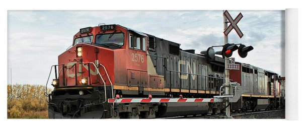 Red Locomotive Yoga Mat