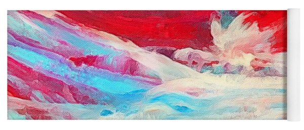 Red Ocean Abstract Yoga Mat