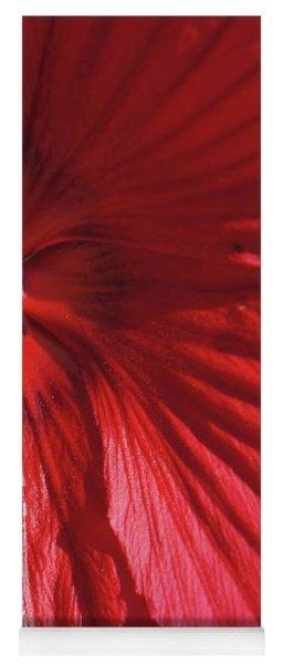Red Petals Yoga Mat