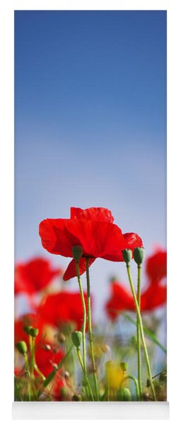 Red Poppies Yoga Mat