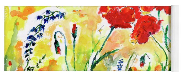 Red Poppies Provence 2017 Yoga Mat