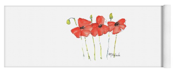 Red Poppy Play Yoga Mat