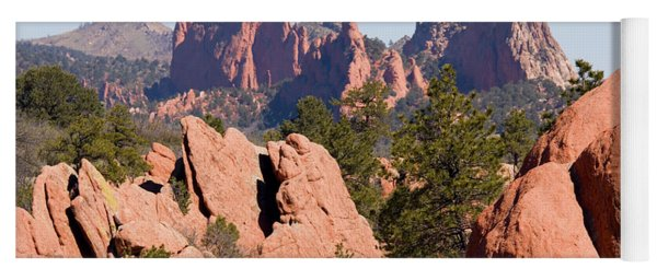 Red Rock Canyon Open Space Park And Garden Of The Gods Yoga Mat