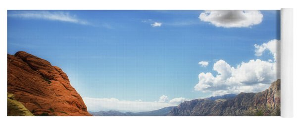 Red Rock Canyon Vintage Style Sweeping Vista Yoga Mat