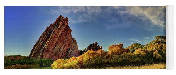 Red Rocks Panorama Yoga Mat