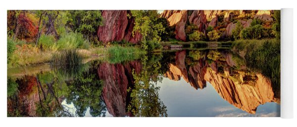 Red Rocks Reflection Yoga Mat