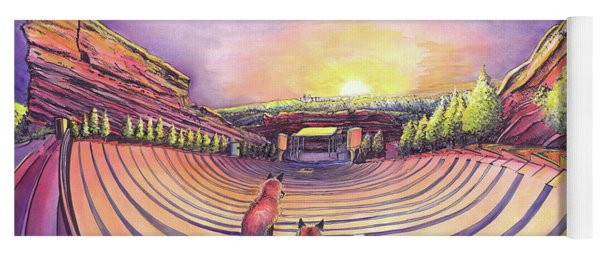 Red Rocks Sunrise Yoga Mat
