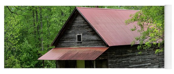Red Roof Cabin Georgia Mountains Yoga Mat