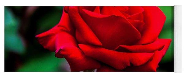 Red Rose 2 Yoga Mat
